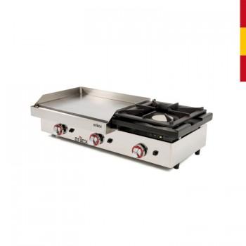 Cocina electrica acero inoxidable con horno 800