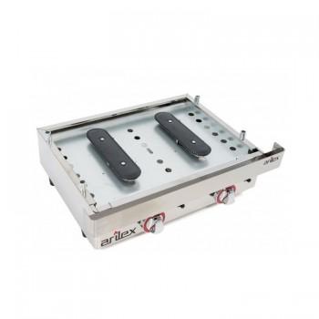 Plancha industrial eléctrica placa acanalada modelo 400