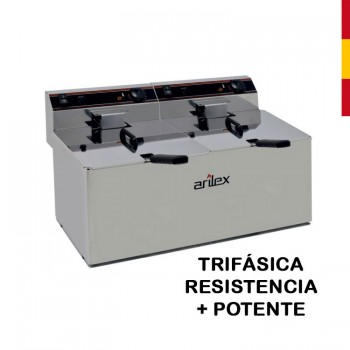 FREIDORA ELÉCTRICA 12+12L SIN GRIFO TRIFÁSICA